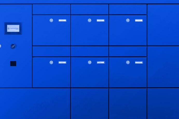 Mysmartbox Packetfachanlage RAL Blau