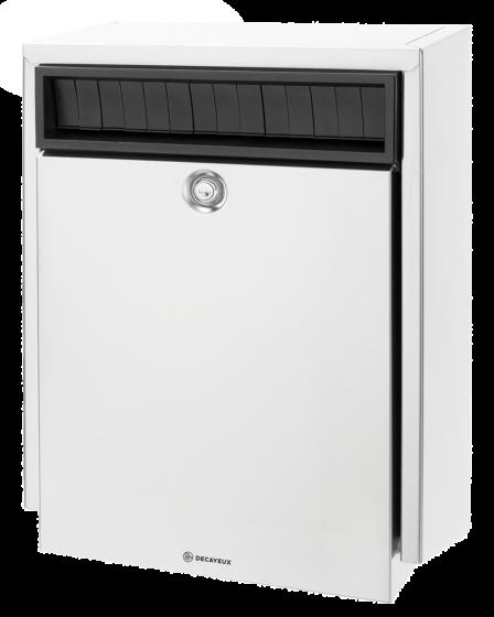 D410 Briefkasten mit Sicherheitslamellen Edelstahl Design line