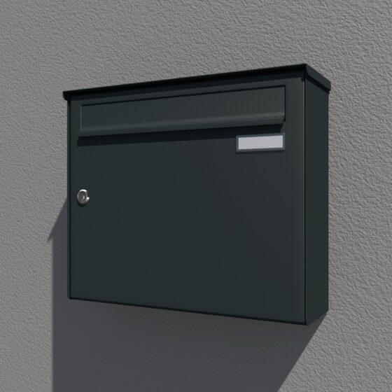 Briefkasten antrazit Aufputz