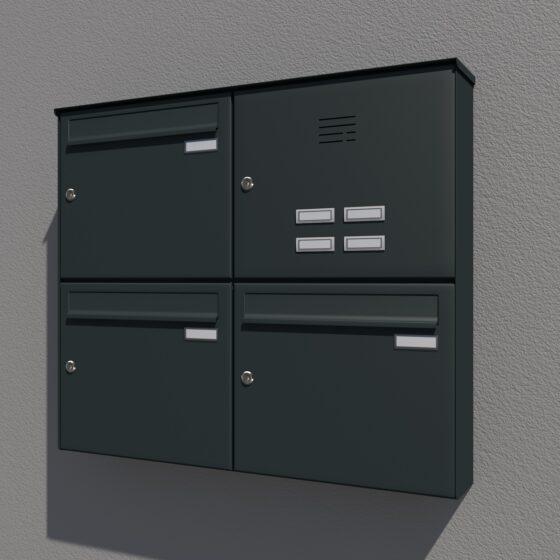 Briefkasten für die Aufputz oder Freistehende Montage