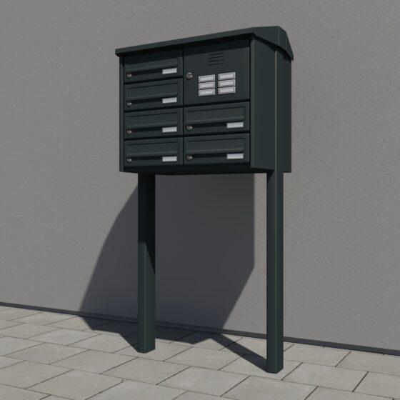 Briefkasten für die freistehende Montage