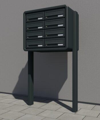 Briefkasten für die freistehende und Aufputz Montage