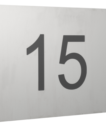 Hausnummerschild aus Edelstahl