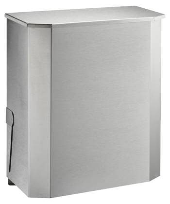 Abfallbehälter Edelstahl 25 Liter Wandmontage