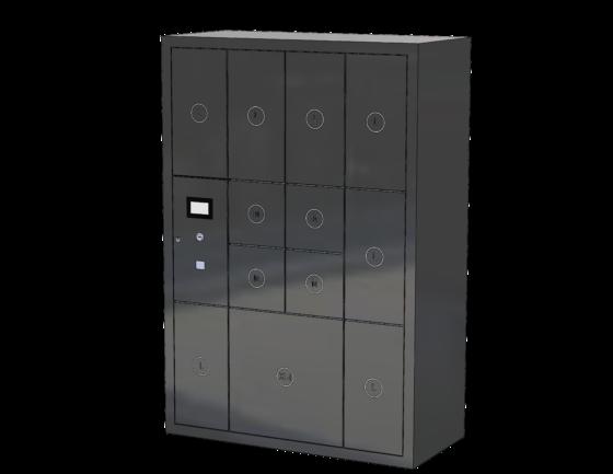 Packetfachanlage mit 12 Fächern