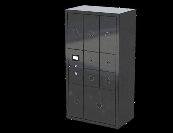 Packetfachanlage mit 9 Fächern