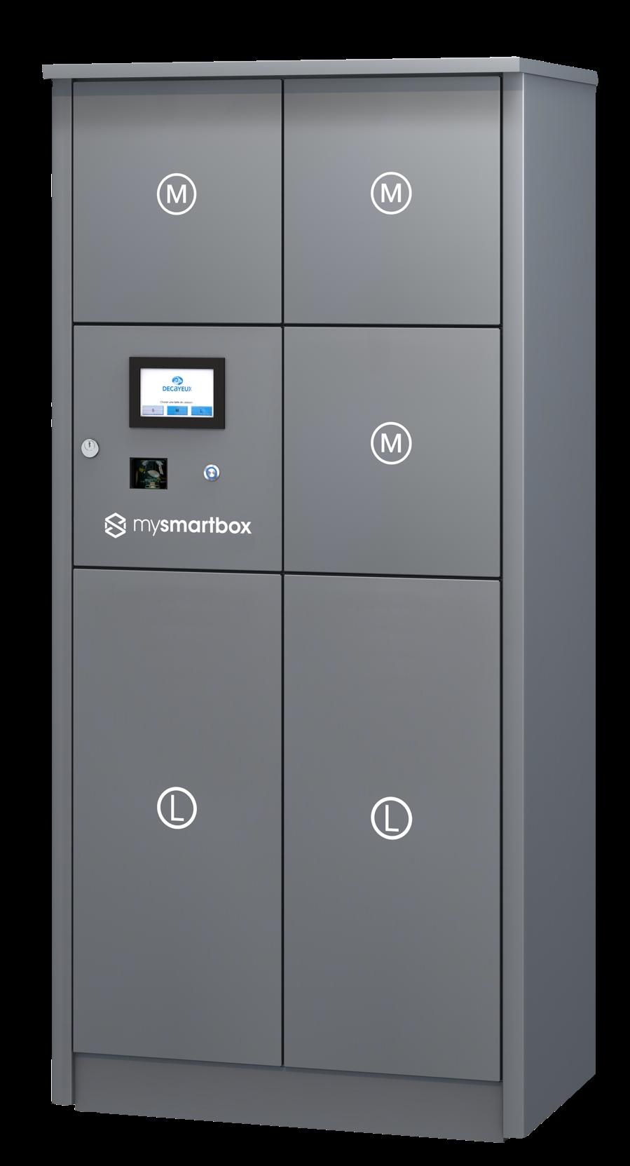 mysmartbox packetfachanlage grau