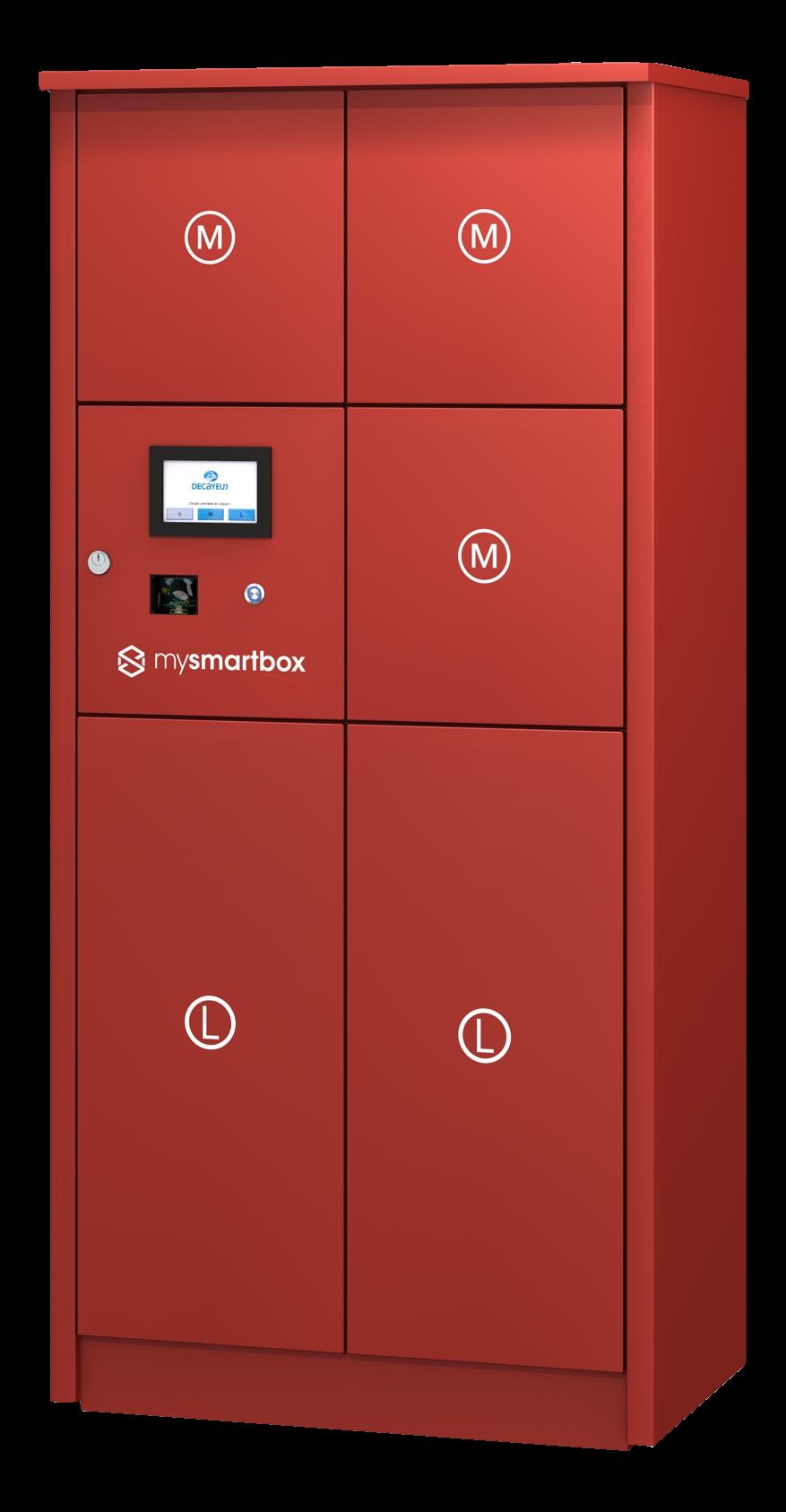 mysmartbox packetfachanlage rot