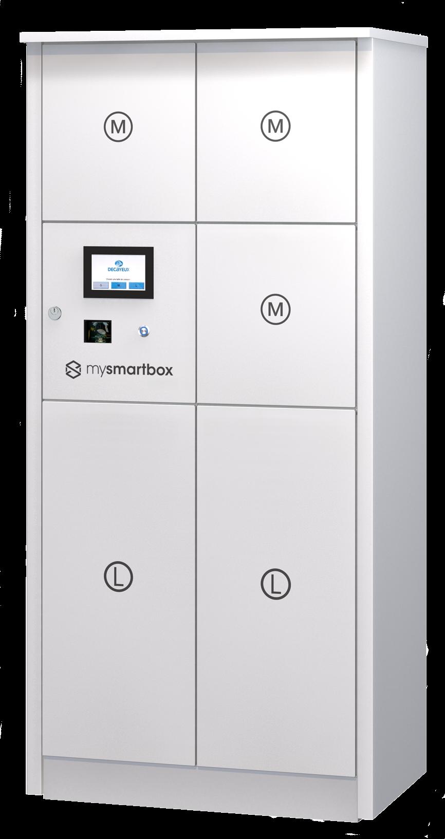 mysmartbox packetfachanlage weiß